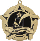 "2-1/4"" Super Star Series Award Attendance Medals on 7/8"" Neck Ribbons"
