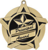 "2-1/4"" Super Star Series Award Principal's Award Medals on 7/8"" Neck Ribbons"