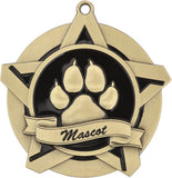 "2-1/4"" Super Star Series Award Mascot Paw Print Medals on 7/8"" Neck Ribbons"