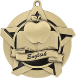 "2-1/4"" Super Star Series Award English Medals on 7/8"" Neck Ribbons"