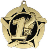 "2-1/4"" Super Star Series 1st Place Medals on 7/8"" Neck Ribbons"