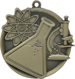 "2-1/4"" Mega Series Science Award Medals on 7/8"" Neck Ribbons"