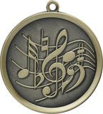 "2-1/4"" Mega Series Music Award Medals on 7/8"" Neck Ribbons"