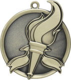 "2-1/4"" Mega Series Victory Torch  Award Medals on 7/8"" Neck Ribbons"