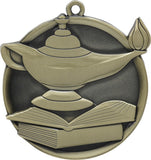 "2-1/4"" Mega Series Lamp of Knowledge Award Medals on 7/8"" Neck Ribbons"