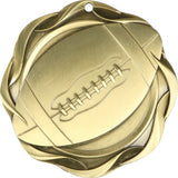 "3"" Fusion Football Award Medals on 1-1/2"" Wide Neck Ribbons"