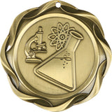 "3"" Fusion Science Award Medals on 1-1/2"" Wide Neck Ribbons"