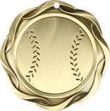 "3"" Fusion Baseball Award Medals on 1-1/2"" Wide Neck Ribbons"