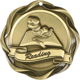 "3"" Fusion Reading Award Medals on 1-1/2"" Wide Neck Ribbons"