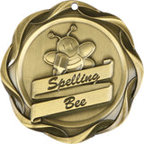 "3"" Fusion Spelling Bee Award Medals on 1-1/2"" Wide Neck Ribbons"