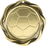 "3"" Fusion Soccer Award Medals on 1-1/2"" Wide Neck Ribbons"