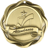 "3"" Fusion Attendance Award Medals on 1-1/2"" Wide Neck Ribbons"