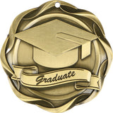 "3"" Fusion Graduate Graduation Award Medals on 1-1/2"" Wide Neck Ribbons"