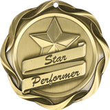 "3"" Fusion Star Performer Award Medals on 1-1/2"" Wide Neck Ribbons"