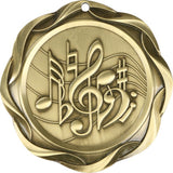 "3"" Fusion Music Award Medals on 1-1/2"" Wide Neck Ribbons"