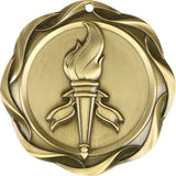 "3"" Fusion Victory Torch Award Medals on 1-1/2"" Wide Neck Ribbons"