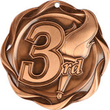 "3"" Fusion 3rd Place Medals on 1-1/2"" Wide Neck Ribbons"