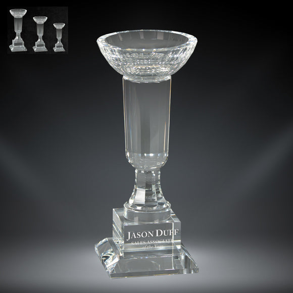 GreyStone Venice Bowl Crystal Award | 3 SIZES