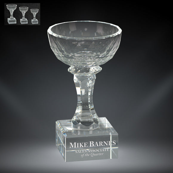 GreyStone Aspire Bowl Crystal Award | 3 SIZES