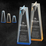GreyStone Spectra Obelisk Star Acrylic with Color Accents | 2 COLORS | 3 SIZES