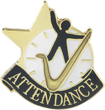 Die Struck Enamel Filled Attendance Lapel Pin