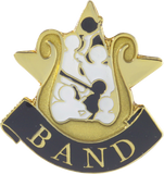 Die Struck Enamel Filled Band Lapel Pin