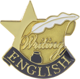 Die Struck Enamel Filled English Lapel Pin