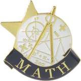 Die Struck Enamel Filled Math Lapel Pin