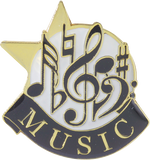 Die Struck Enamel Filled Music Lapel Pin