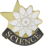 Die Struck Enamel Filled Science Lapel Pin