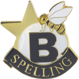 Die Struck Enamel Filled Spelling Bee Lapel Pin