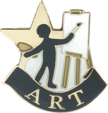 Die Struck Enamel Filled Art Lapel Pin