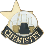 Die Struck Enamel Filled Chemistry Lapel Pin