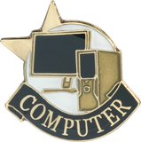 Die Struck Enamel Filled Computer Lapel Pin