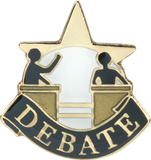 Die Struck Enamel Filled Debate Lapel Pin