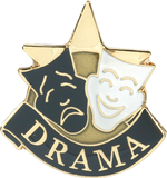 Die Struck Enamel Filled Drama Lapel Pin