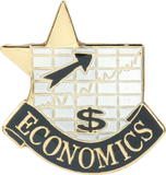Die Struck Enamel Filled Economics Lapel Pin