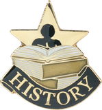 Die Struck Enamel Filled History Lapel Pin