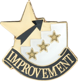 Die Struck Enamel Filled Most Improved Lapel Pin