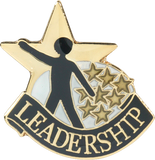 Die Struck Enamel Filled Leadership Lapel Pin
