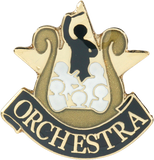 Die Struck Enamel Filled Orchestra Lapel Pin