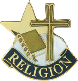 Die Struck Enamel Filled Religion Christian Lapel Pin