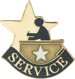 Die Struck Enamel Filled Service Lapel Pin