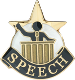 Die Struck Enamel Filled Speech Lapel Pin