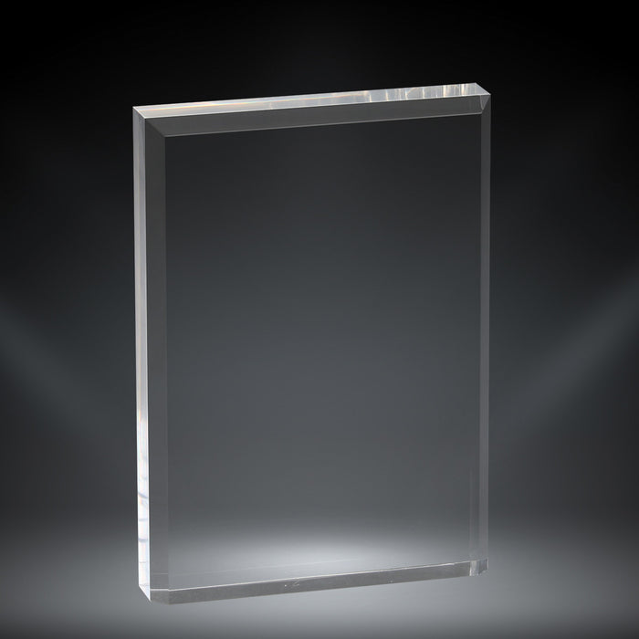 "GreyStone 1"" thick Clear Canvas Style Beveled Edge Acrylic Award 