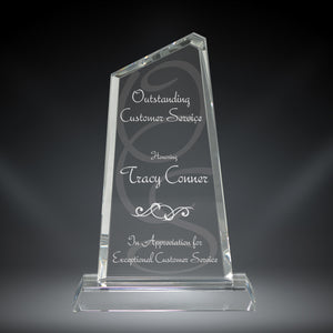 GreyStone Gem Style Crystal Award | 3 SIZES