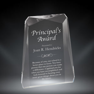 "GreyStone 1"" thick Clear Pinnacle Rectangle Style Acrylic Award 