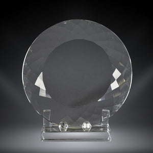 GreyStone Crystal Facet Plate Award | 3 SIZES