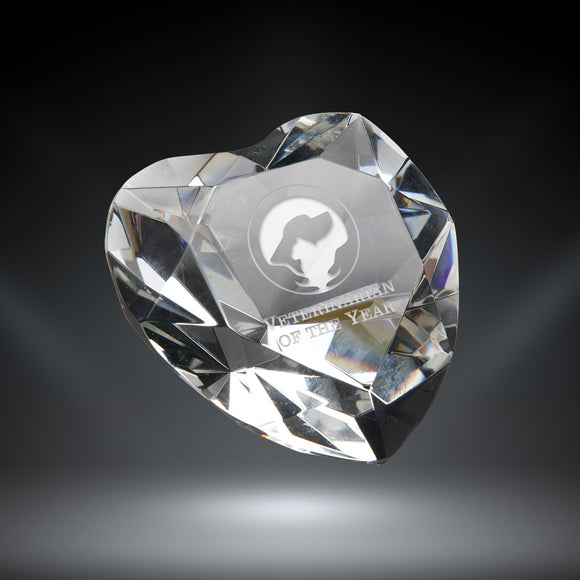 GreyStone Crystal Heart Paperweight