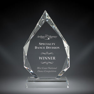 GreyStone Diamond Flame Crystal Award | 3 SIZES